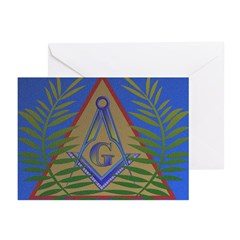 Masonic Acacia Greeting Cards (Pk of 10)