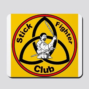 Stick Fighter Club gold Mousepad