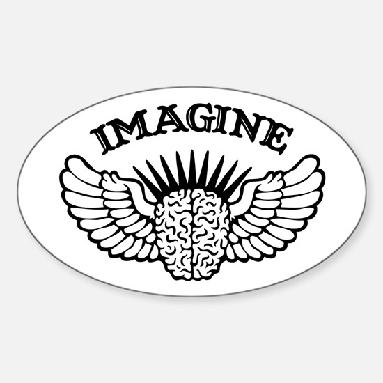 Imagine Oval Decal