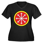 Aethelmearc Women's Plus Size V-Neck Dark T-Shirt