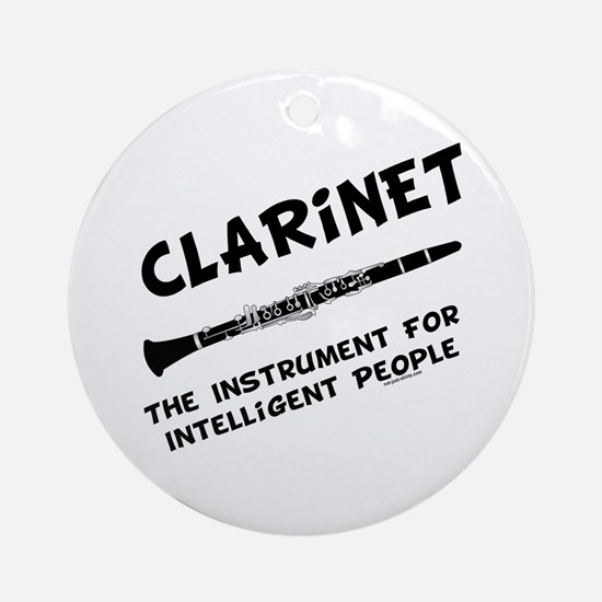 Clarinet Genius Ornament (Round)