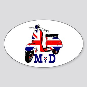 Mods Scooter Sticker (Oval)