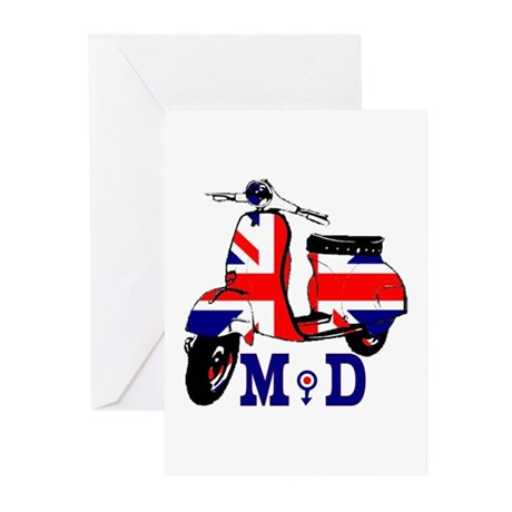 Mods Scooter Greeting Cards (Pk of 10)