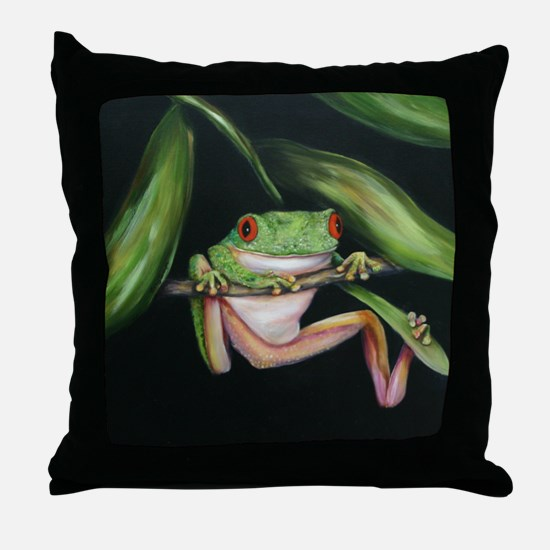 Fun Frog #3 Throw Pillow