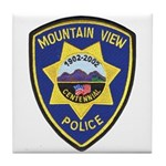 Mountain View Police Tile Coaster