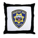 Mountain View Police Throw Pillow