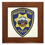 Mountain View Police Framed Tile