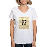 Hickock vs. Coe Women's V-Neck T-Shirt