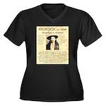 Hickock vs. Coe Women's Plus Size V-Neck Dark T-Sh
