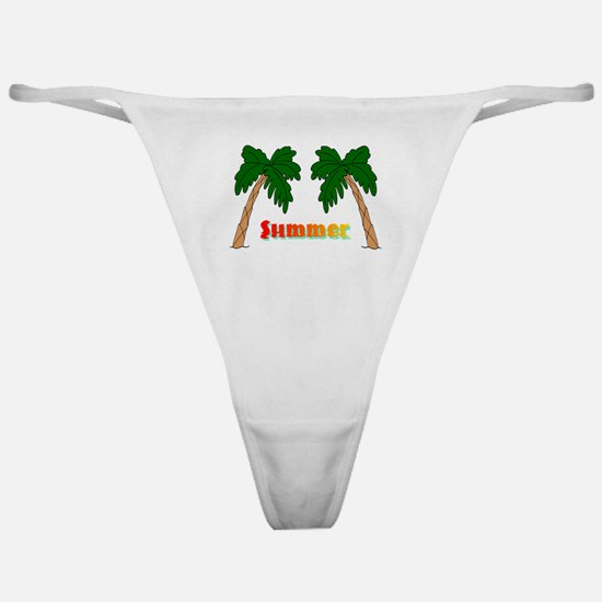 Summer Palm Trees Classic Thong