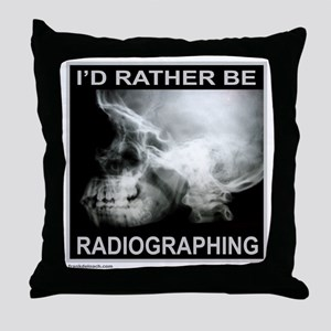 RADIOGRAPHING Throw Pillow