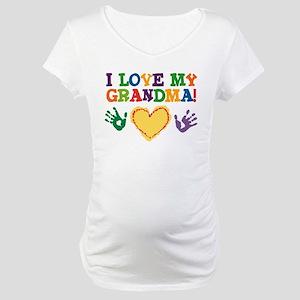 I Love My Grandma Maternity T-Shirt