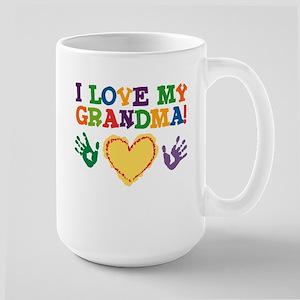 I Love My Grandma Large Mug