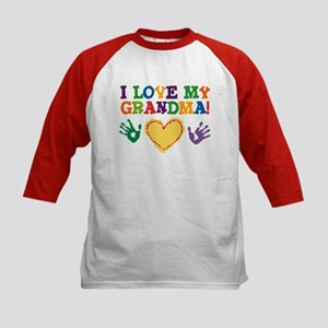 I Love My Grandma Kids Baseball Jersey
