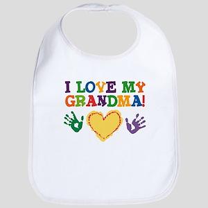 I Love My Grandma Bib