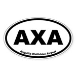 Anguilla Wallblake Airport Oval Sticker