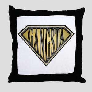 SuperGangsta(b/g) Throw Pillow