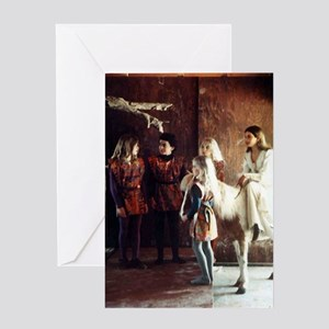 Diana and Pony Greeting Card