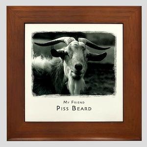 Piss Beard Framed Tile