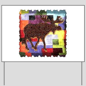Colorful Moose Yard Sign