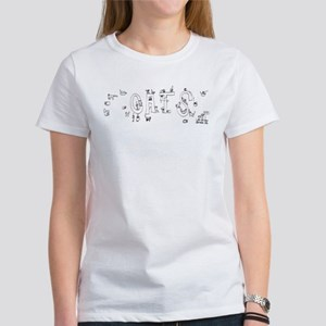 Cats Drawing by Jeffrey Matucha Women's T-Shirt