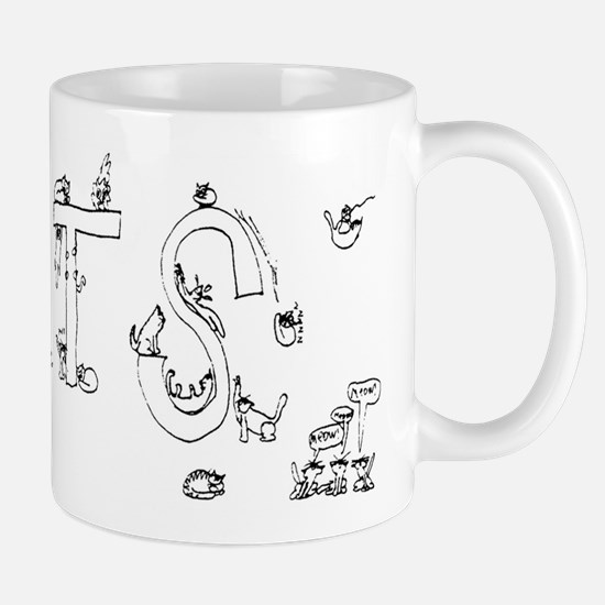 Cats Drawing by Jeffrey Matucha Mug