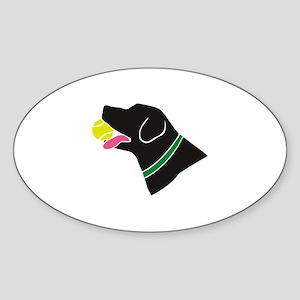 The Retriever Oval Sticker