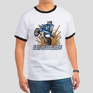 Eat, Sleep, Ride Motocross Ringer T