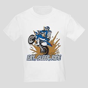 Eat, Sleep, Ride Motocross Kids Light T-Shirt