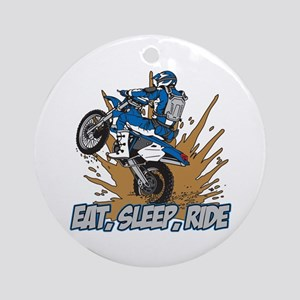 Eat, Sleep, Ride Motocross Ornament (Round)