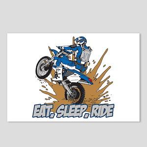 Eat, Sleep, Ride Motocross Postcards (Package of 8