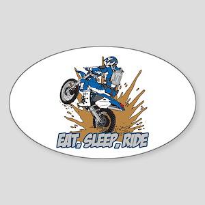 Eat, Sleep, Ride Motocross Oval Sticker