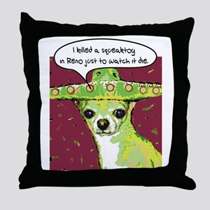 Killer Chihuahua Throw Pillow