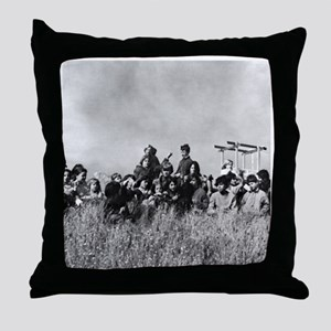 Cannery Kid Mural Throw Pillow