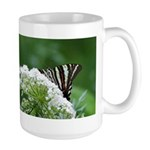 Zebra on Lace Large Mug