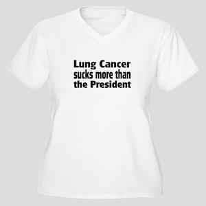 Lung Cancer Women's Plus Size V-Neck T-Shirt