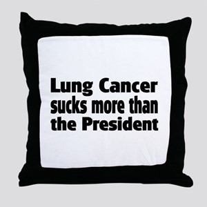 Lung Cancer Throw Pillow