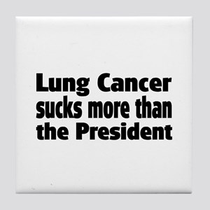 Lung Cancer Tile Coaster