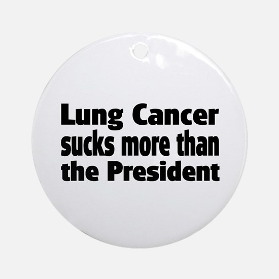 Lung Cancer Ornament (Round)