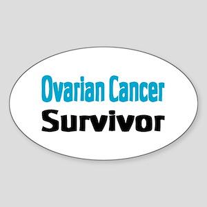 Ovarian Cancer Oval Sticker