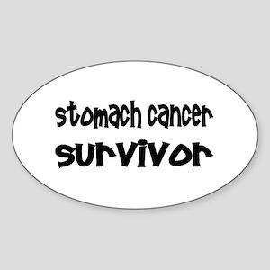 Stomach Cancer Oval Sticker