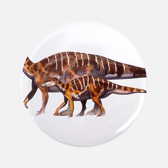 "Iguanodon Jurassic Dinosaur 3.5"" Button"