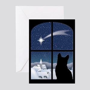 Cat christmas greeting cards cafepress silent night christmas cards pk of 10 m4hsunfo