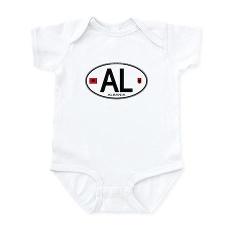 Albania Euro Oval Infant Bodysuit