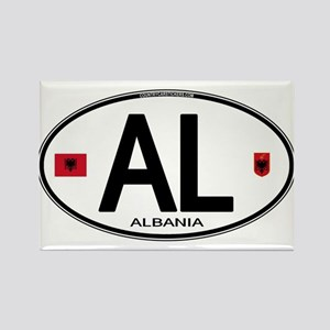 Albania Euro Oval Rectangle Magnet