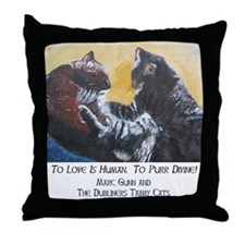 To Purr Is Divine, To Love Is Throw Pillow