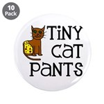 "Tiny Cat Pants 3.5"" Button (10 pack)"