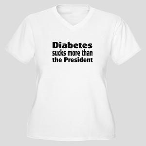 Diabetes Women's Plus Size V-Neck T-Shirt