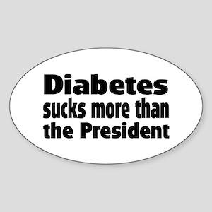Diabetes Oval Sticker