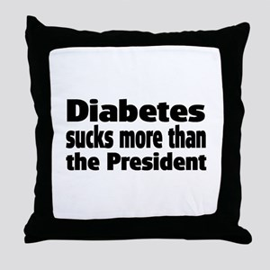 Diabetes Throw Pillow